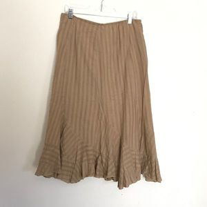 (2for20) Style & Co Tan Trumpet Skirt (14 petite)